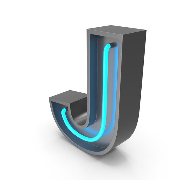 Neon Letter J PNG & PSD Images