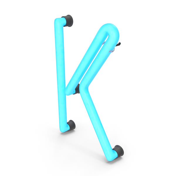 Neon Letter K PNG & PSD Images