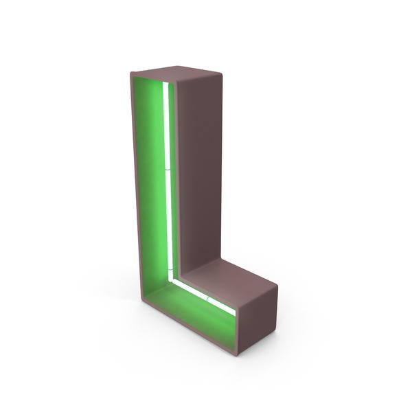 Neon Letter L PNG & PSD Images