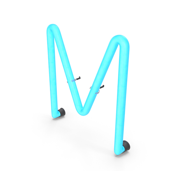Neon Letter M PNG & PSD Images