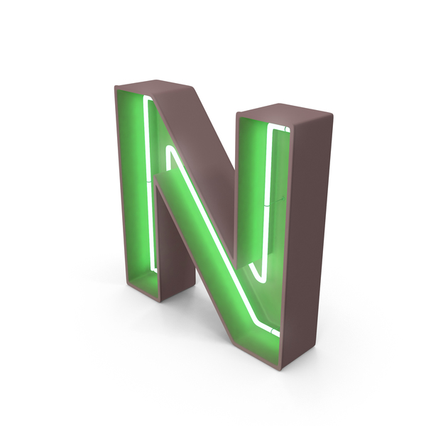 Neon Letter N PNG & PSD Images