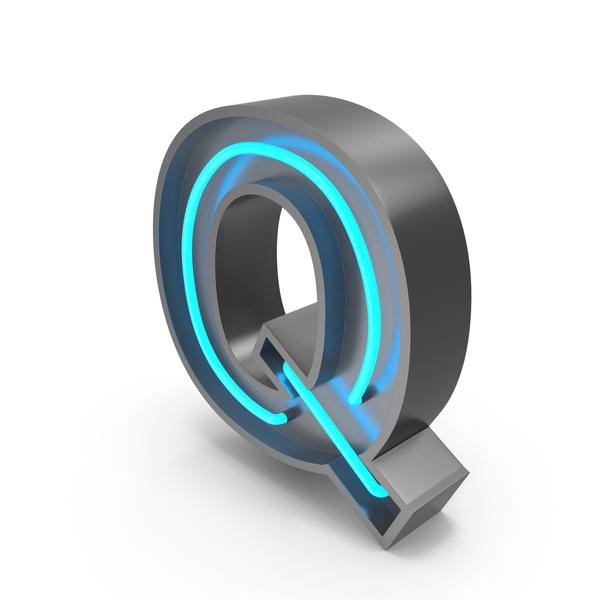 Neon Letter Q PNG & PSD Images
