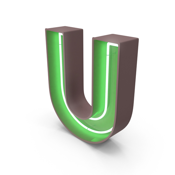 Neon Letter U PNG & PSD Images