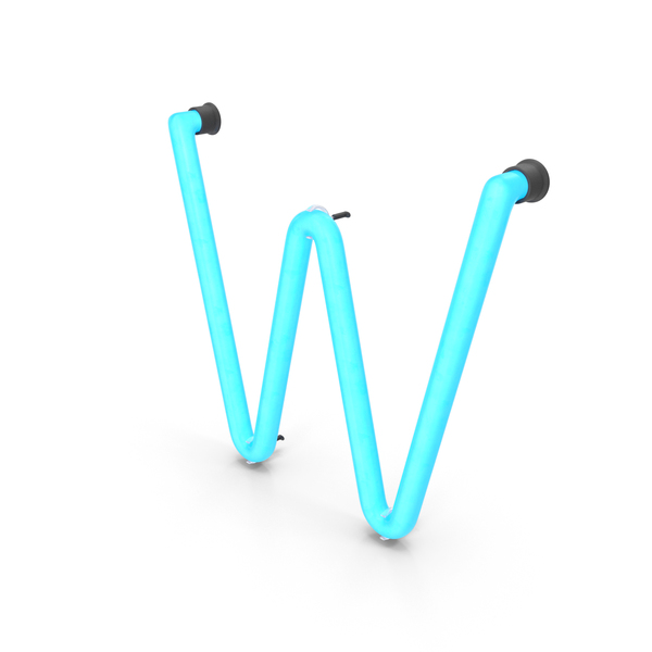 Light: Neon Letter W PNG & PSD Images