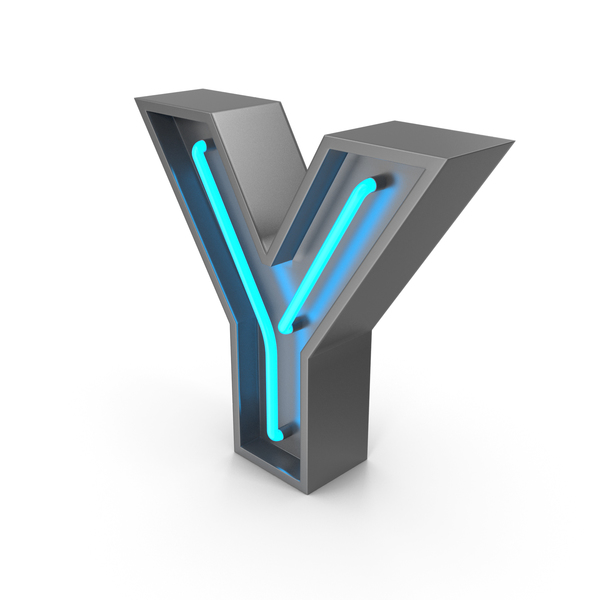 Neon Letter Y PNG & PSD Images