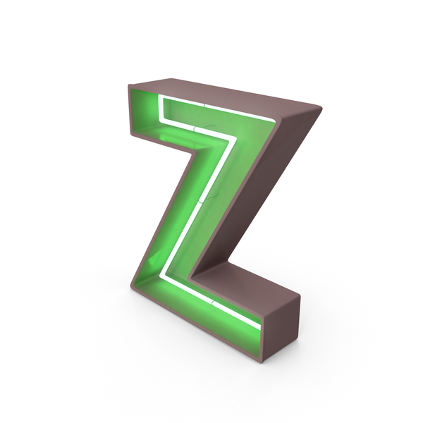 Neon Letter Z PNG & PSD Images