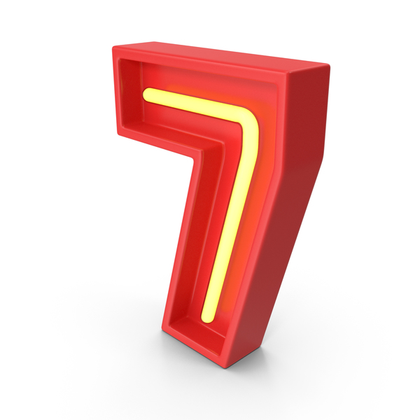 Light: Neon Number 7 PNG & PSD Images