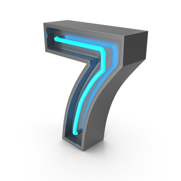 Neon Number 7 PNG & PSD Images