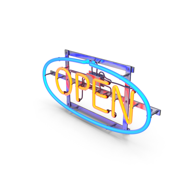 Light: Neon Open Sign PNG & PSD Images