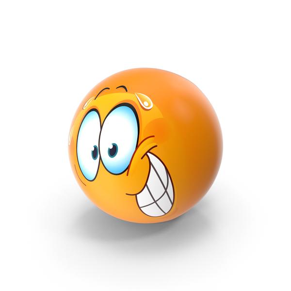 Nervous Smile Emoji PNG & PSD Images