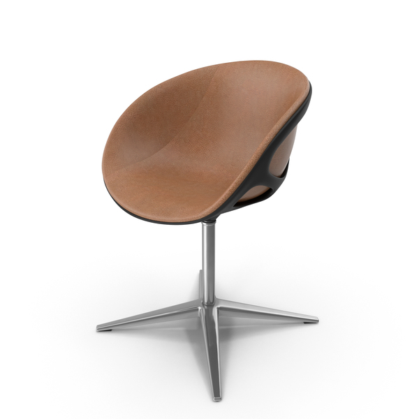 Nest Shaped Chair Leather Walnut PNG & PSD Images