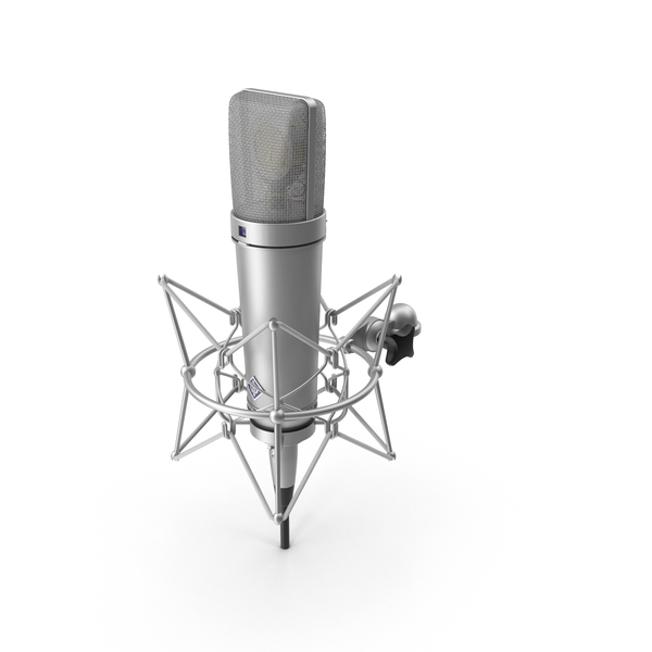Condenser: Neumann U87 Ai with XLR Cable PNG & PSD Images