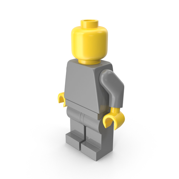 Neutral Lego Man Arms Down PNG & PSD Images