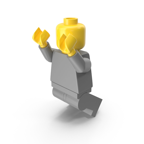 People: Neutral Lego Man Jumping PNG & PSD Images