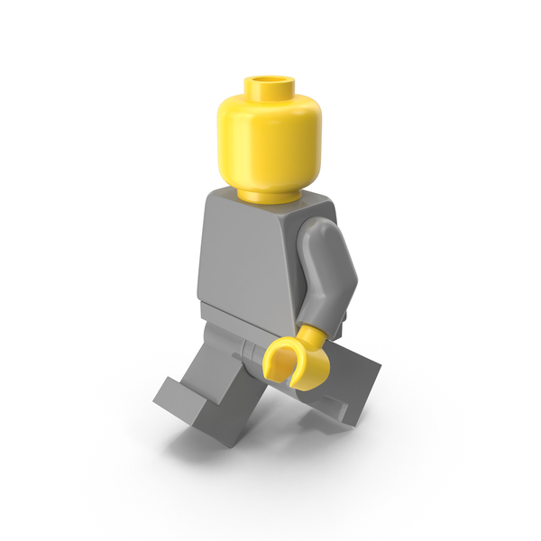 Neutral Lego Man Walking PNG & PSD Images