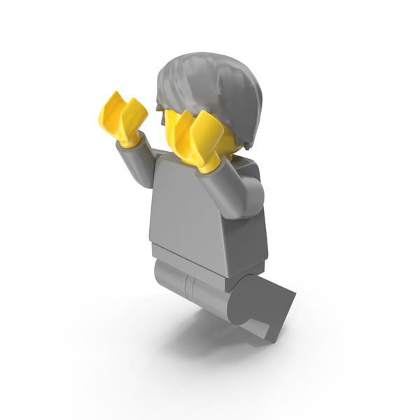 Neutral Lego Man With Hair Jumping PNG & PSD Images
