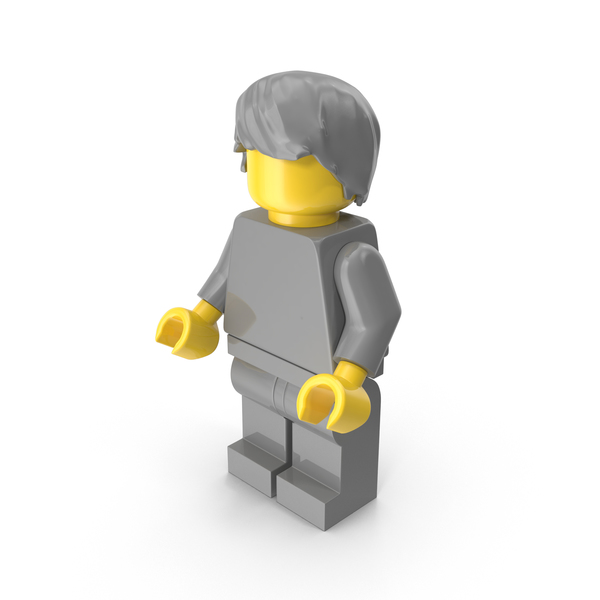 Neutral Lego Man With Hair PNG & PSD Images