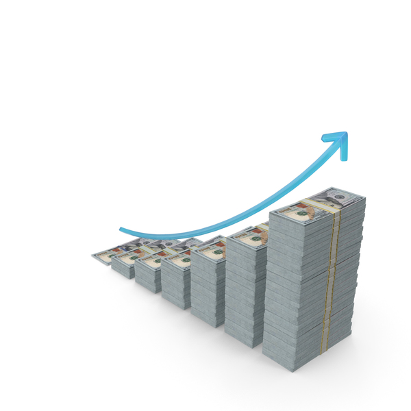 New Dollar Income Graph PNG & PSD Images