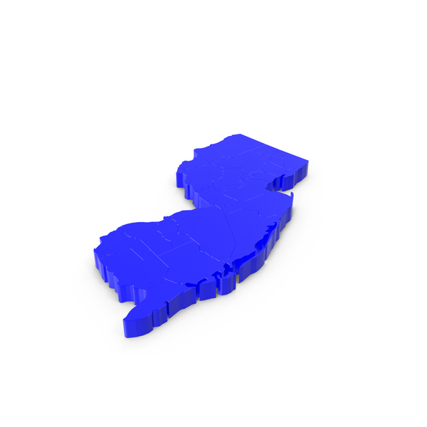 New Jersey Counties Map PNG & PSD Images