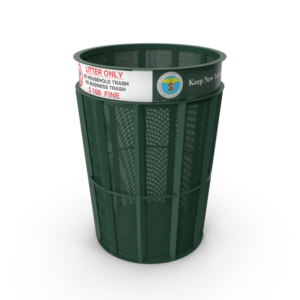 New York Garbage Bin PNG & PSD Images