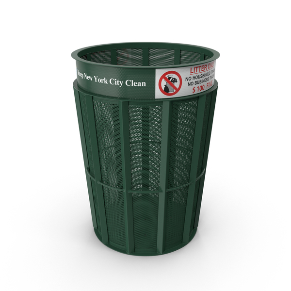 Dustbin: New York Garbage Bin PNG & PSD Images
