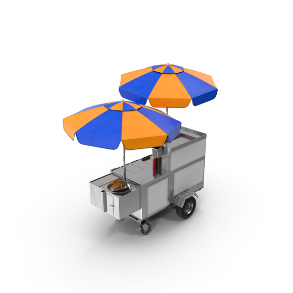 Food Cart: New York Hot Dog and Pretzel Stand PNG & PSD Images