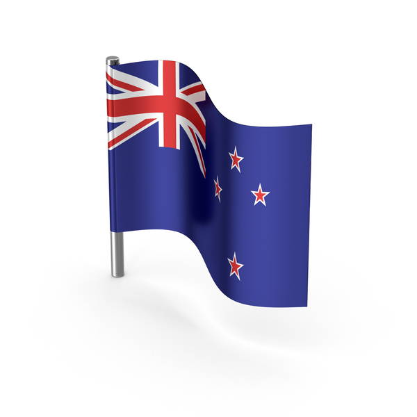 New Zealand Cartoon Flag PNG & PSD Images