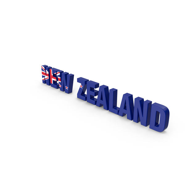 New Zealand Text PNG & PSD Images