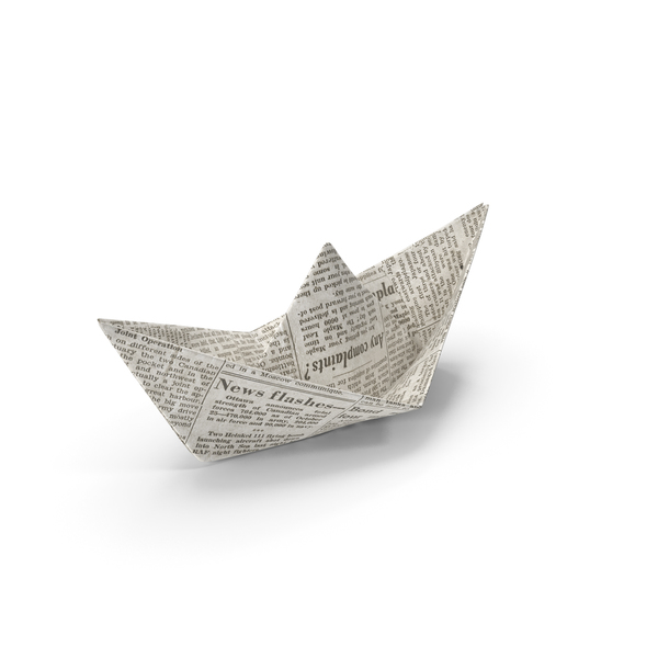 Newspaper Paper Boat PNG & PSD Images