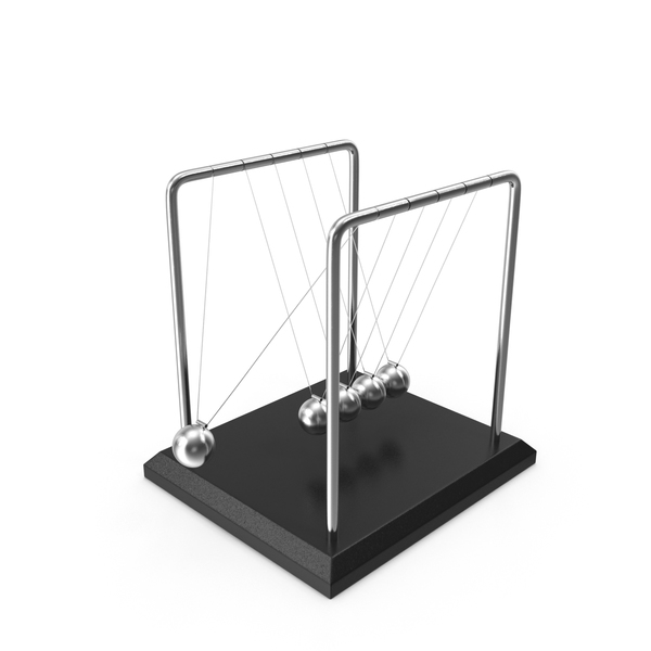 Perpetual Motion Machine: Newton's Cradle Desktop Toy PNG & PSD Images