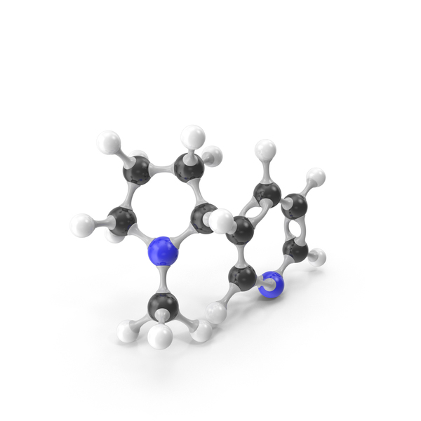Nicotine Molecular Model PNG & PSD Images