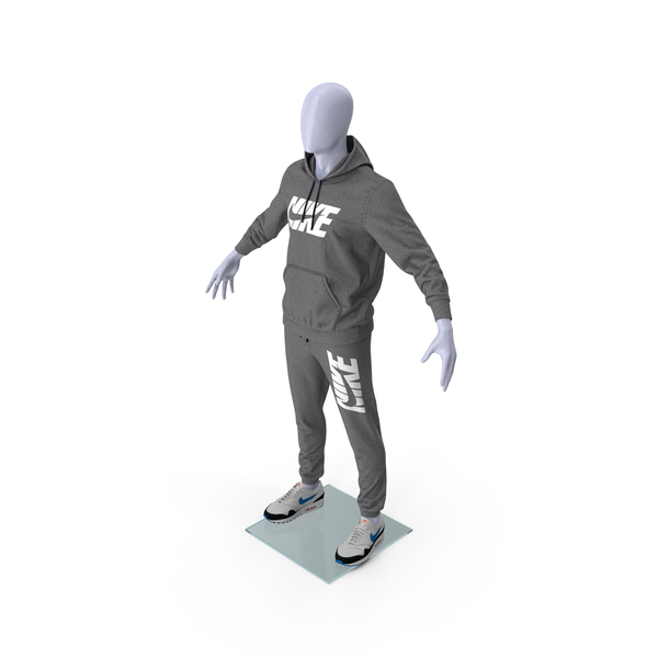 Nike Sportswear Suit Anthrazit Lowered Hood on Mannequin PNG & PSD Images