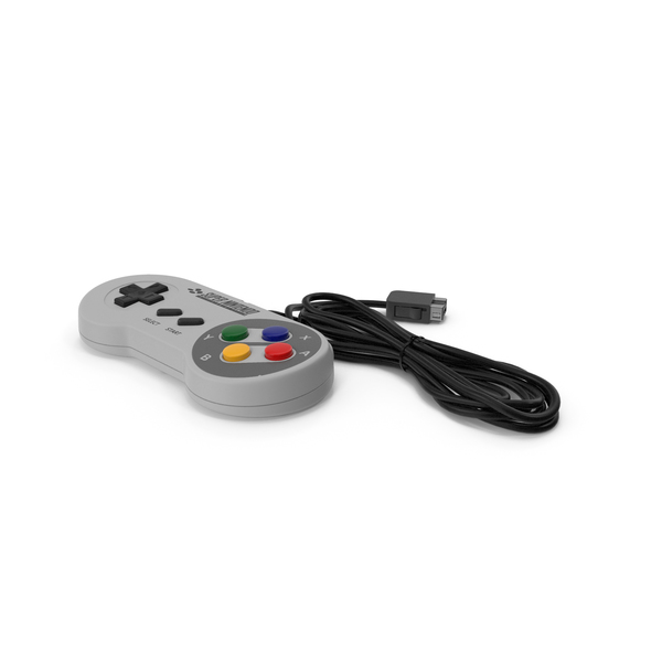 Nintendo SNES Joystick Controller PNG & PSD Images