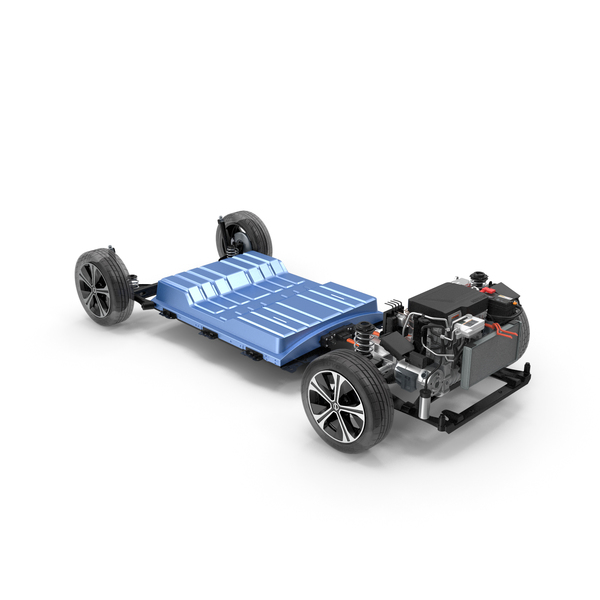 Nissan Leaf Engine and Chassis and Battery Pack PNG & PSD Images