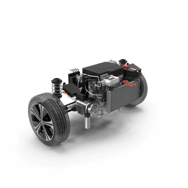 Nissan Leaf Engine and Front Suspension PNG & PSD Images