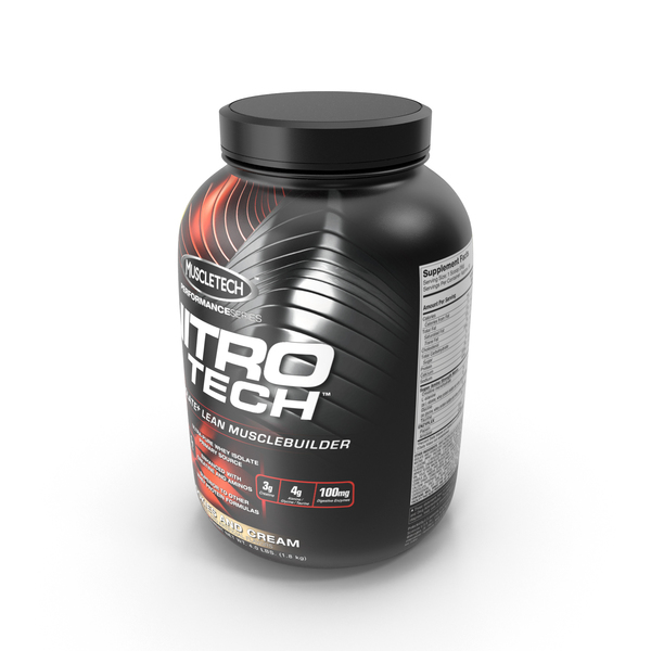 Supplement: Nitro Tech Whey PNG & PSD Images