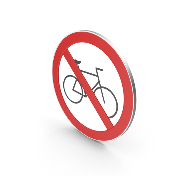 Traffic Signs: No Bicycle Sign PNG & PSD Images