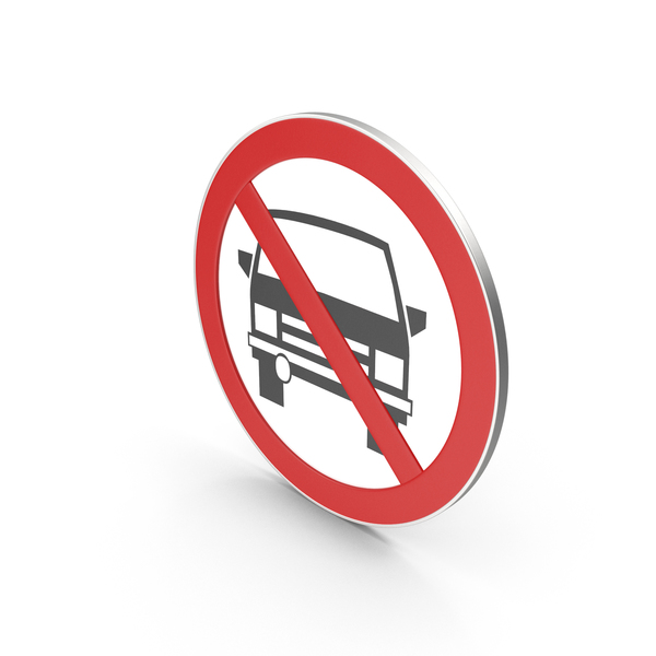 Traffic Signs: No Car Sign PNG & PSD Images