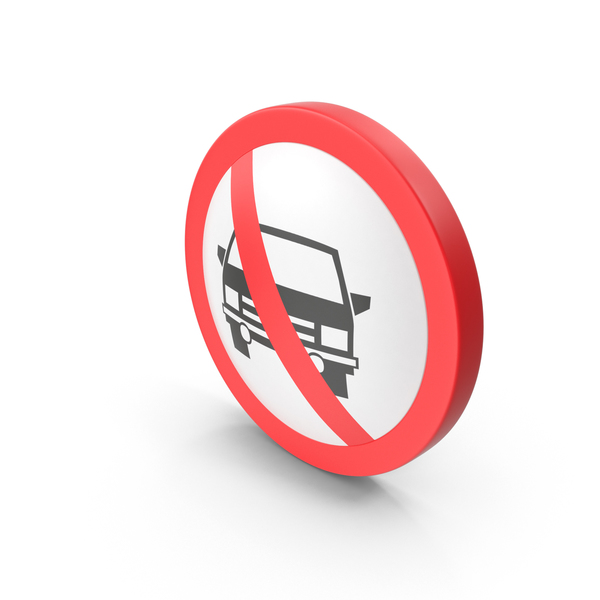 No Cars Traffic Sign PNG & PSD Images