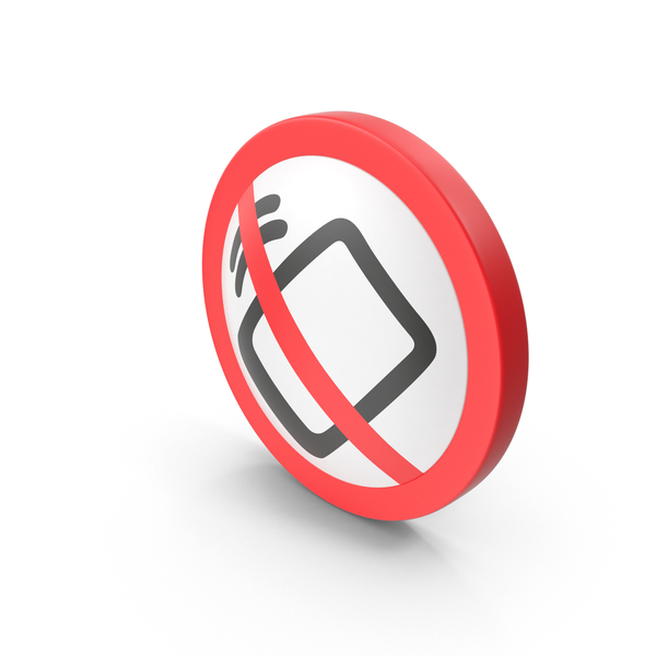 Traffic Signs: No Cell Phones Sign PNG & PSD Images