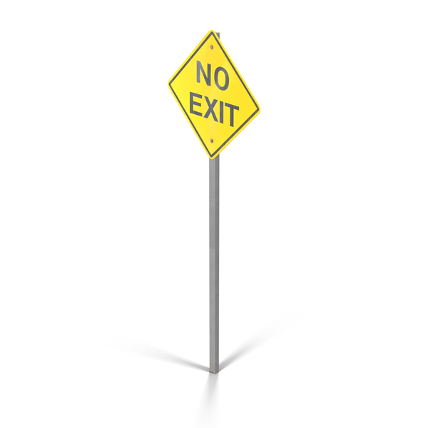 No Exit Sign PNG & PSD Images
