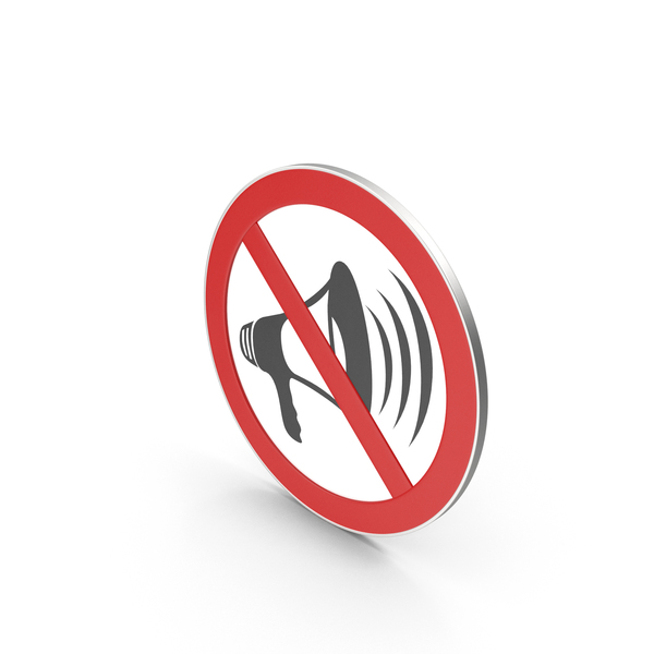 Computer Icon: No Loudspeaker Sign PNG & PSD Images