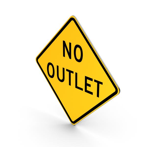 Traffic Signs: No Outlet Road Sign PNG & PSD Images