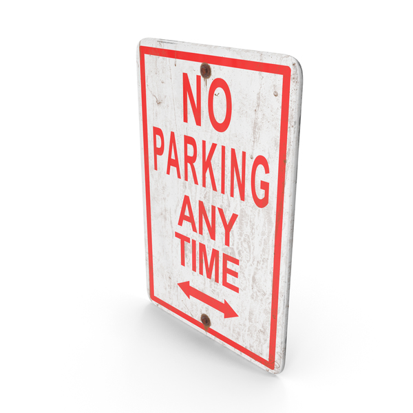No Parking Anytime Sign PNG & PSD Images
