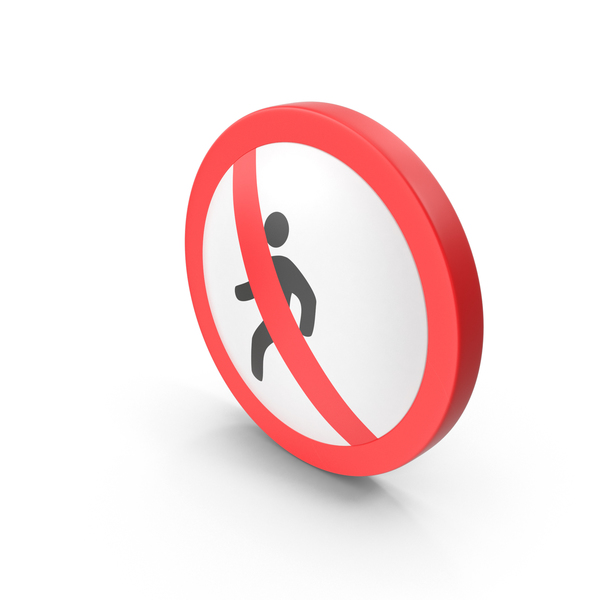 No Pedestrian Road Sign PNG & PSD Images
