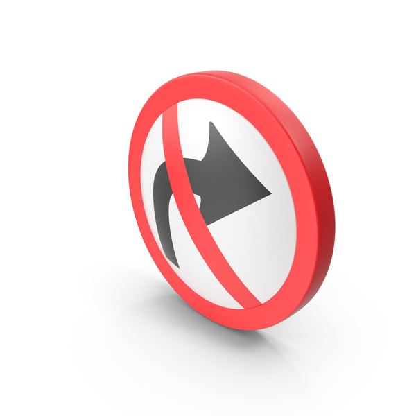 No Turning Road Sign PNG & PSD Images