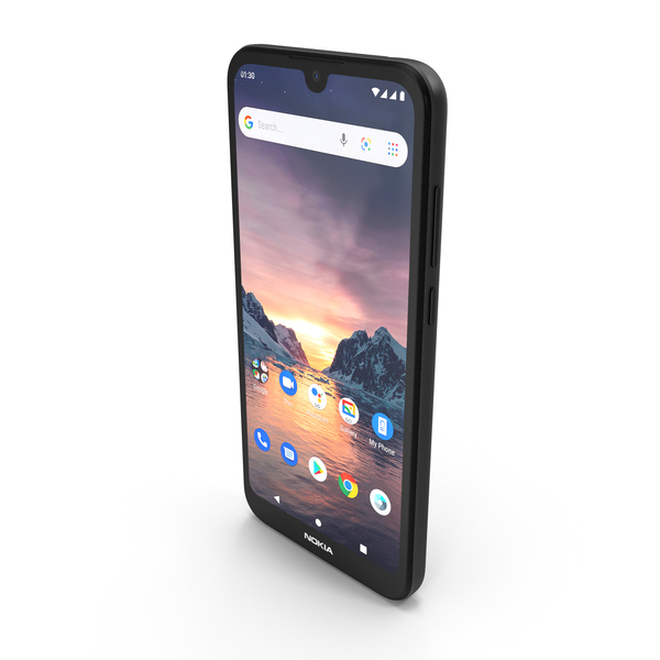 Nokia 1.3 Charcoal PNG & PSD Images