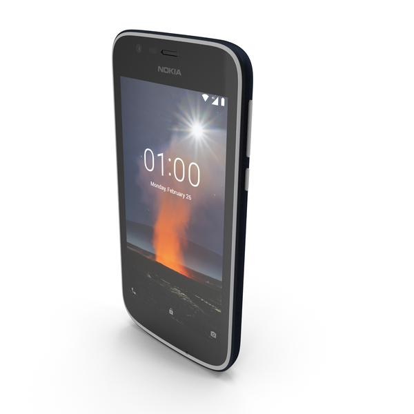 Nokia 1 Dark Blue PNG & PSD Images