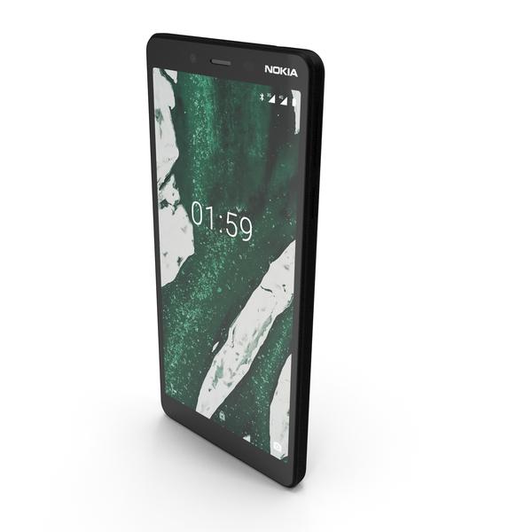 Nokia 1 Plus Black PNG & PSD Images