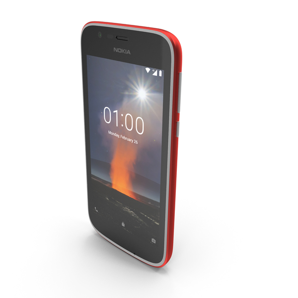 Nokia 1 Warm Red PNG & PSD Images